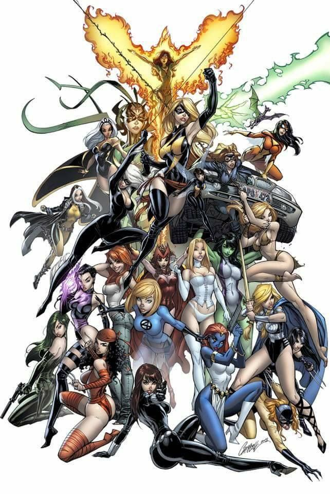 Ladies of Marvel Art by J Scott Campbell