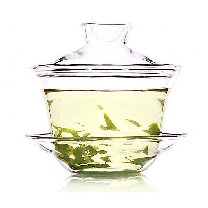 Glass Gaiwan-Fragrant Grass - Gaiwan/Covered Bowl - Teaware Enjoy / Slow / Green