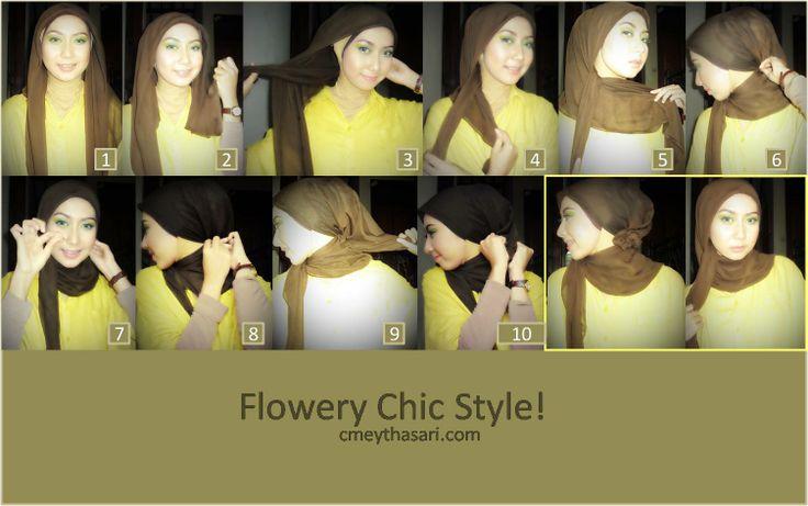 Flowery Chic Hijab tutorial