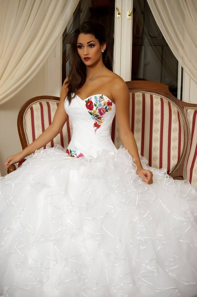 Hungarian Embroidered Wedding Dress