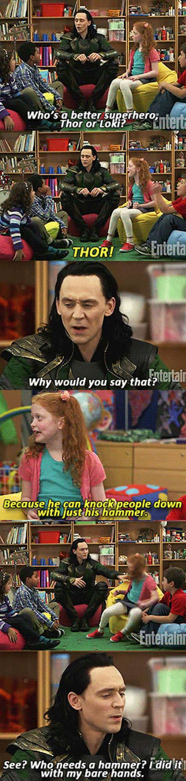 and you know Tom's heart broke at having to shove a child. He probably apologized repeatedly to the little girl who was most likely unfazed.