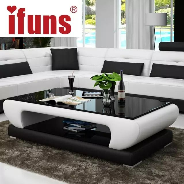 Online Shop Ifuns Living Room Furniture Modern New Design Coffee Table Glass Top Wood Modern Furniture Living Room Center Table Living Room Sofa Table Design,Stair Modern Simple Iron Railing Design