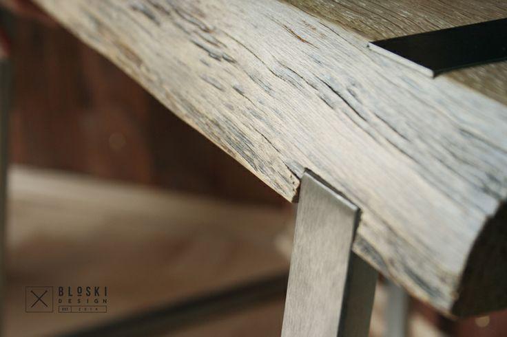 oak & stainless steel