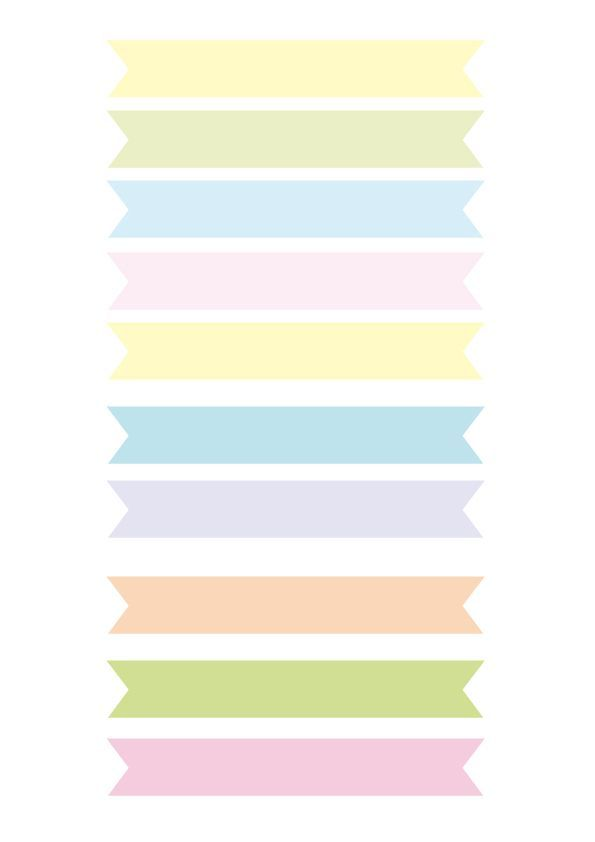 pastel banner template for planner