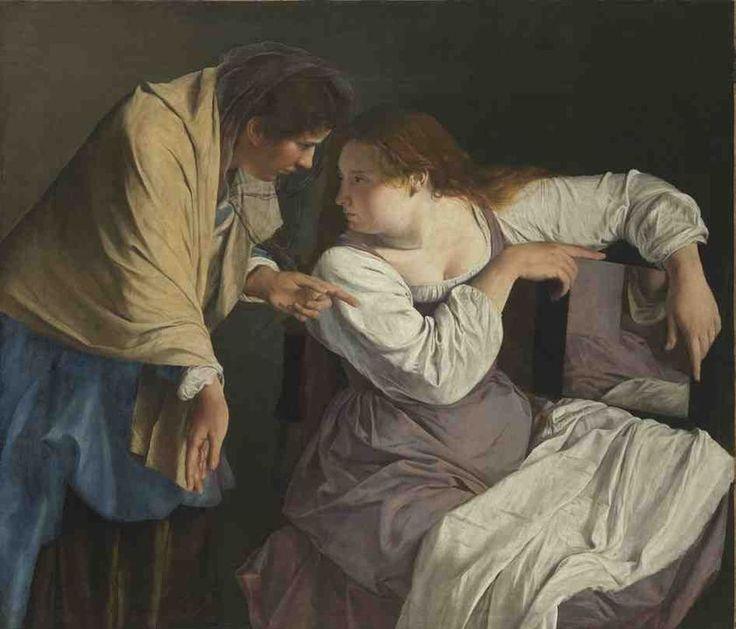 Martha blames her sister Mary / Marta reprende a su hermana María // ca. 1620 // Orazio Gentileschi // Alte Pinakothek