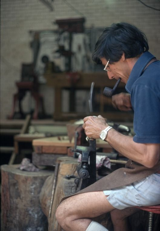 215732PD: Eric Car, silversmith, at work, 1979.  http://encore.slwa.wa.gov.au/iii/encore/record/C__Rb2440598__S215732pd__Orightresult__U__X3?lang=eng&suite=def