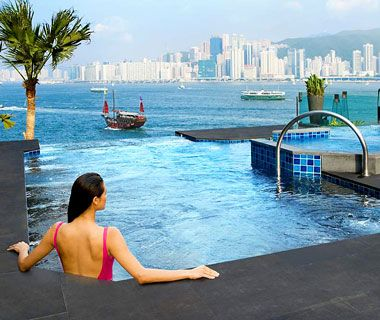 World's Coolest Pools: Intercontinental Hong Kong   thi chi master class 5 days a week by the pool