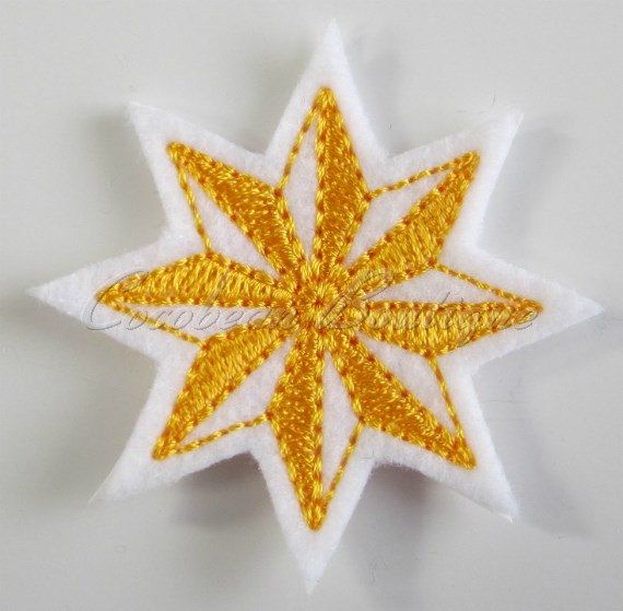 Star feltie -mini embroidery-instant download - pinned by pin4etsy.com
