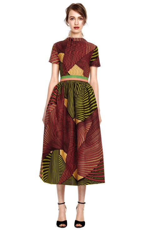 Love this! Peony Wax Cotton Full Skirt Party Dress by Stella Jean #Africanfashion #AfricanClothing #Africanprints #Ethnicprints #Africangirls #africanTradition #BeautifulAfricanGirls #AfricanStyle #AfricanBeads #Gele #Kente #Ankara #Nigerianfashion #Ghanaianfashion #Kenyanfashion #Burundifashion #senegalesefashion #Swahilifashion DK