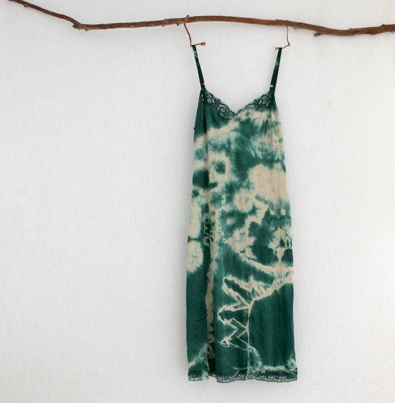 FOREST DWELLER . women's tie dye dress . size 14 by bohemianbabes