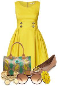 vestidos amarillos casuales de moda 2