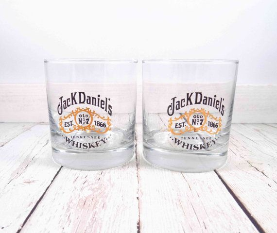 Jack Daniels Glasses Old No 7 Tennessee Whiskey by TheZenSquirrel