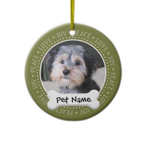 Personalized Dog Photo Frame - SINGLE-SIDED Ornaments