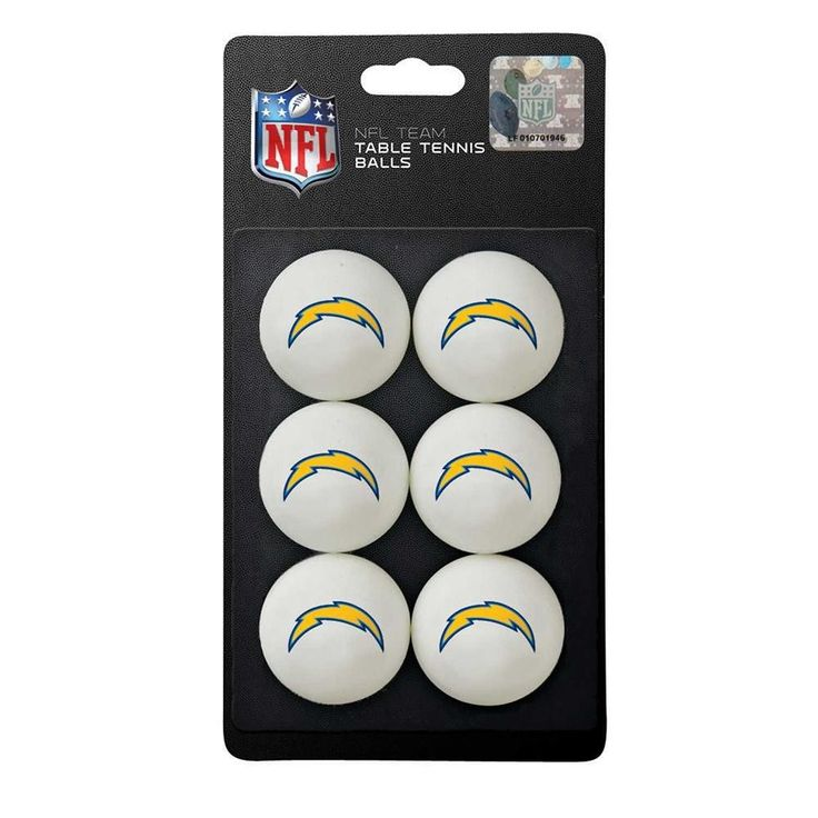San Diego Chargers NFL Table Tennis Balls (6pc)