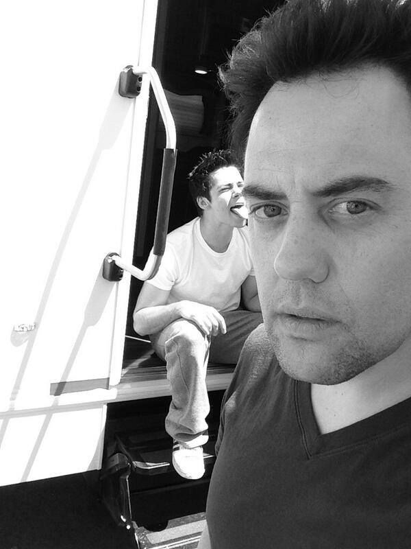 Dylan O'Brien and Orny Adams on the set of Teen Wolf Season 4! :P