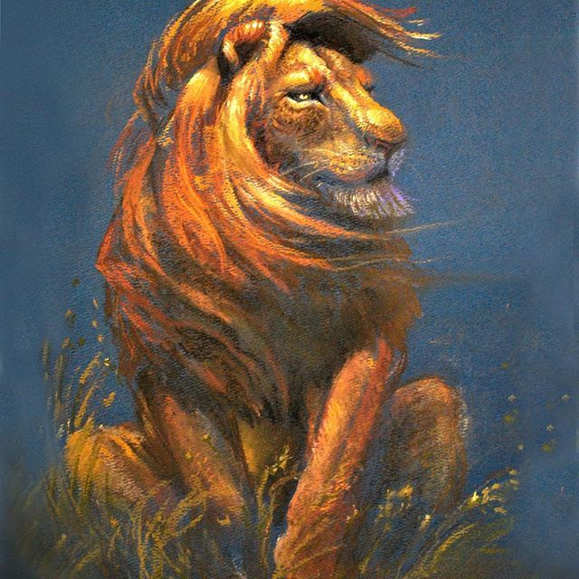 An oldie but goodie pastel illustration that is now available as a print at this month's CTN EXPO in Burbank,Ca Nov 18-20. Come by David's Doodles at Booth B-12 and say hello.  #lion #illustration #pastel #animalart #davidsdoodles