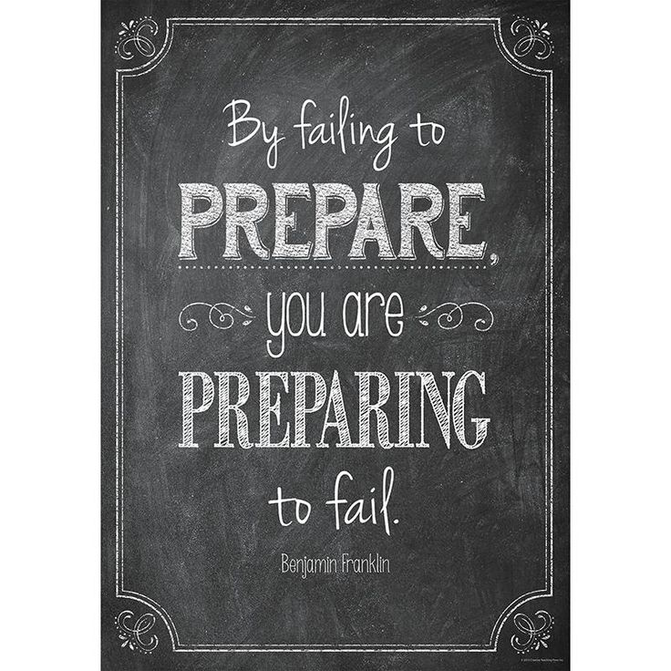 Creative Teaching Press By failing to prepare… Inspire U Poster