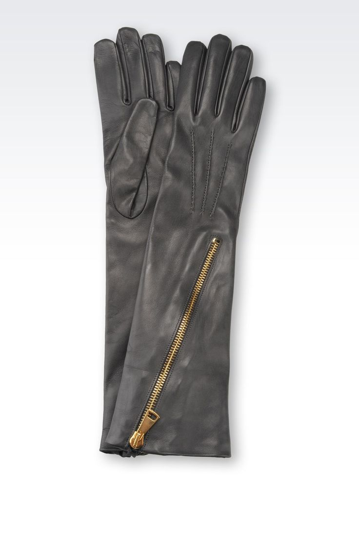 Leather driving gloves vancouver - Long Napa Leather Glove With Zip