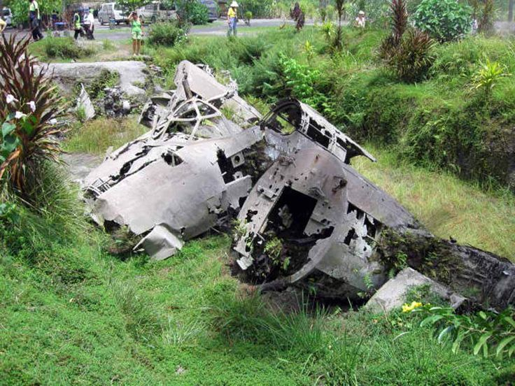 "A destroyed Mitsubishi Ki-21 ""Sally"" bomber at Lakunai Airfield, Rabaul, Papua New Guinea.  http://www.pagahillestate.com/exploring-world-war-ii-relics/"