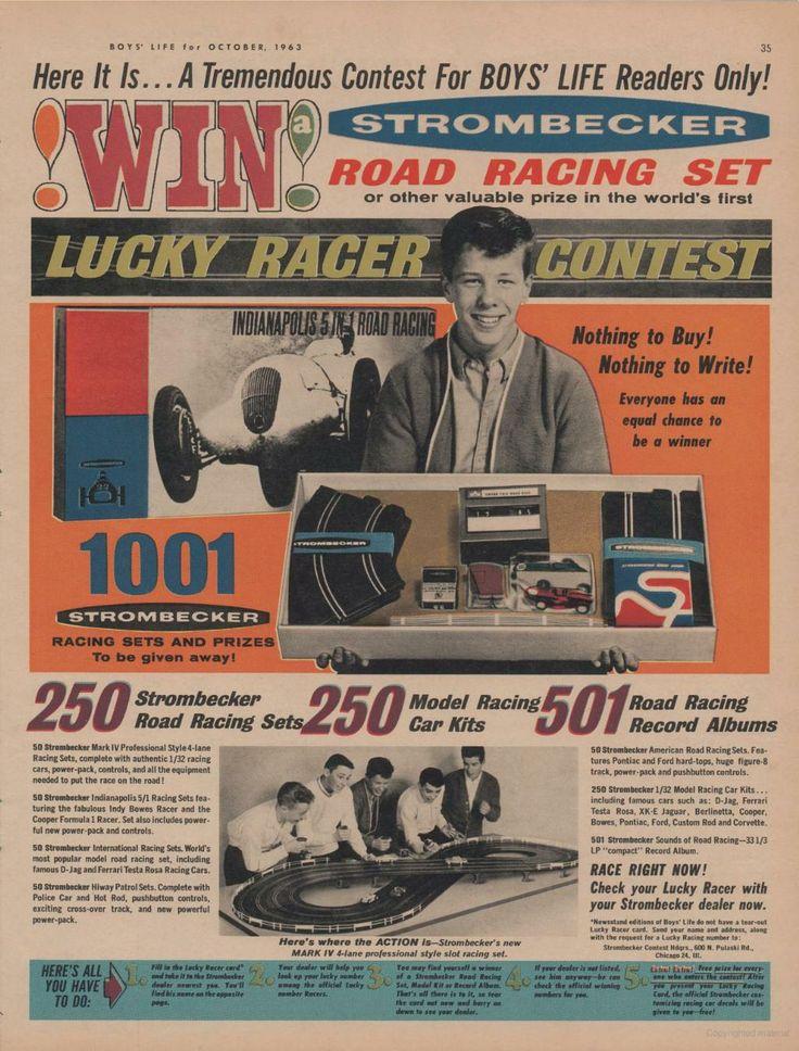 1963 Strombecker Road Racing Set 1 32 Slot Car Model Kids