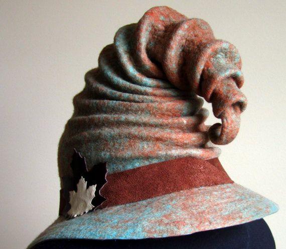 Wizard Hat. Witch Hat. Felt Hat. Ren Faire Hat. Cosplay Hat by HandiCraftKate on Etsy