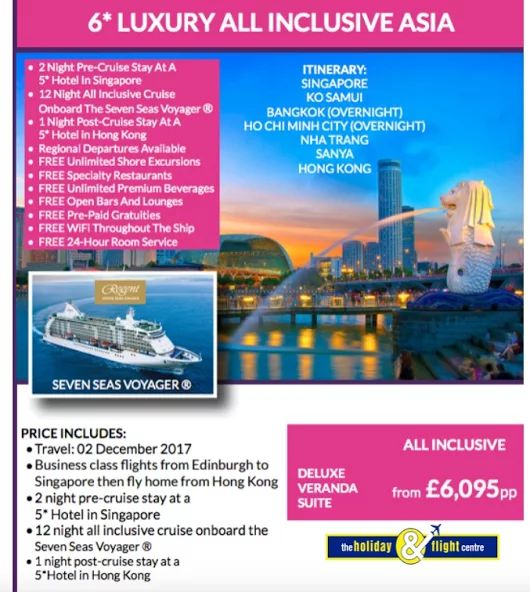 6* Luxury Cruise on board Seven Seas Voyager   See more cruise offers here....  https://plus.google.com/u/0/b/117155539269047519956/collection/0so0NE