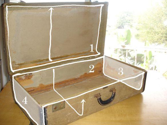 Re-upholstering VintageLuggage