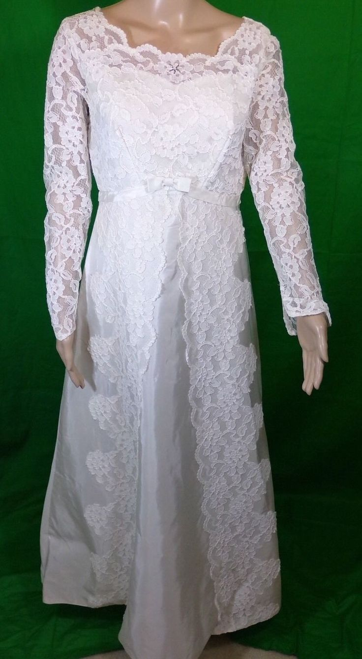 Vintage Int. Ladies Garment Workers Union Lace Wedding Dress Size 14 in Clothing, Shoes & Accessories, Wedding & Formal Occasion, Wedding Dresses | eBay