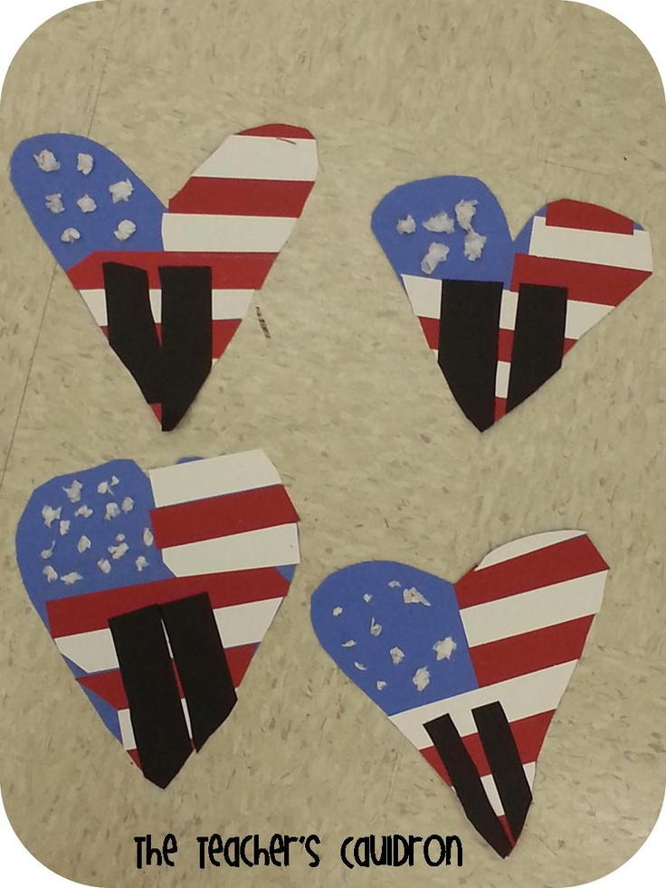 adorable 9/11 craft with the twin towers