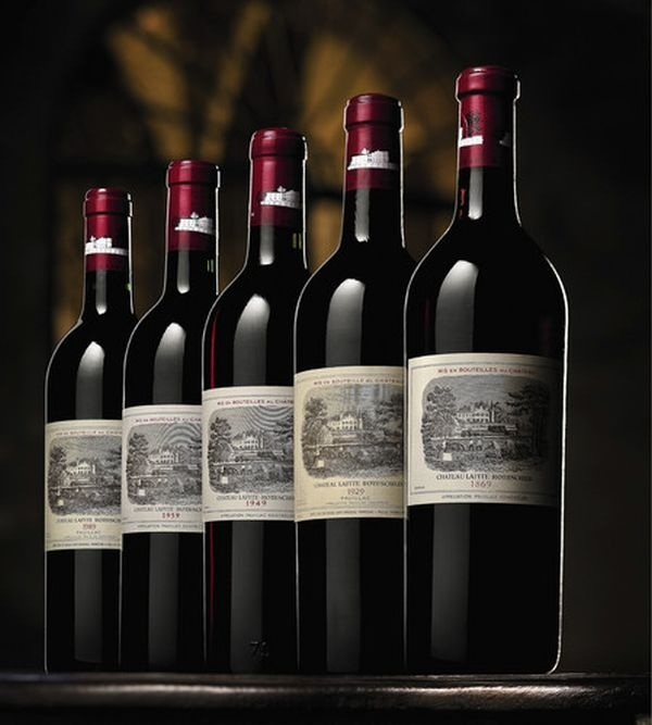 1869 Château Lafite Rothschild  Designer/Distiller: Chateau Lafite  Price: $232,692/Bottle    Château Lafite Rothschild in Bordeaux, France, the 1869 Château Lafite Rothschild broke records at a Hong Kong auction organized by Sotheby's in the month of November last year. This rare and vintage exquisite wine was presented to the bidders in three exotic bottles and with a single bottle price of $232,692, this unique wine claimed the title of the world's most expensive wine sold at an auction.