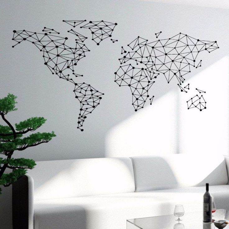 Best 25 world map wall decal ideas on pinterest world map decal geometric stickit map gumiabroncs Image collections