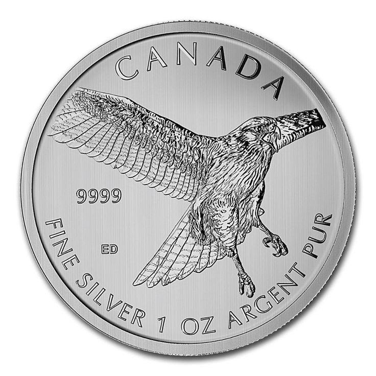 Canadá 1 onza 5$ 2015 Halcón cola roja Plata Ag