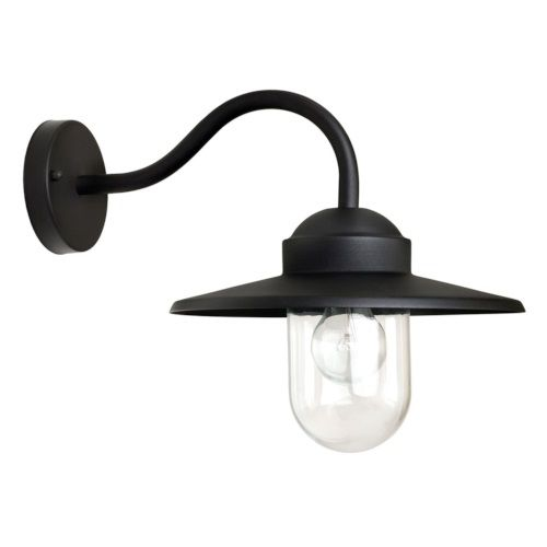 K.S. Verlichting Dolce Wandlamp Retro 27 x 27,5 cm - Zwart