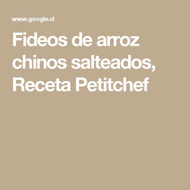Fideos de arroz chinos salteados, Receta Petitchef