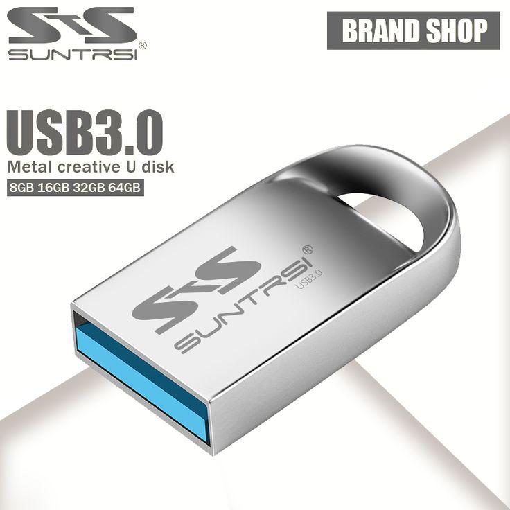 Suntrsi flashdisk 32 GB GB mini pena logam usb flash drive 64 Drive 16 GB USB 3.0 Kecepatan Tinggi USB Stick Aliexpress Standar pengiriman