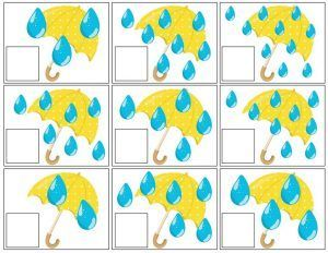 spring umbrella math activities