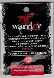 Warrior is an herbal sexual enhancer for men.  The product increase erection, prolong your performance and increase your libido. Boost your sexual performance with this 100% natural ingredient.http://www.pinkzone.co.za/sex-enhancers/male-sex-enhancer/warrior