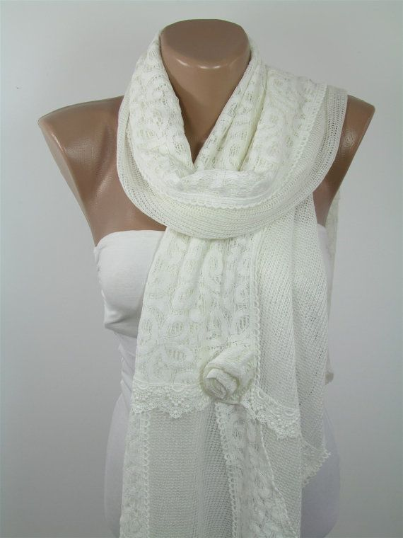 Exclusive Ivory Wedding Scarf Shawl Wrap For Bride Wedding Favors Ivory Lace Shawl Scarf For Prom Mothers Day From Dauhter Son Husband For Mom DERINS The measurements of the scarf are approx. 69x18 inches (175x45 cm) SHIPPING: All orders will be shipped with FedEx Express. (Phone number