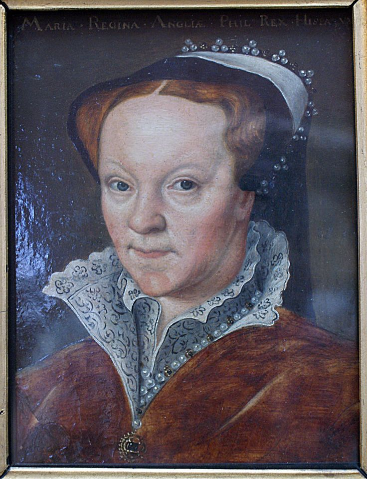 Maria Regina (Queen Mary Tudor of England), by unknown artist, c.1554.- French Hood Images