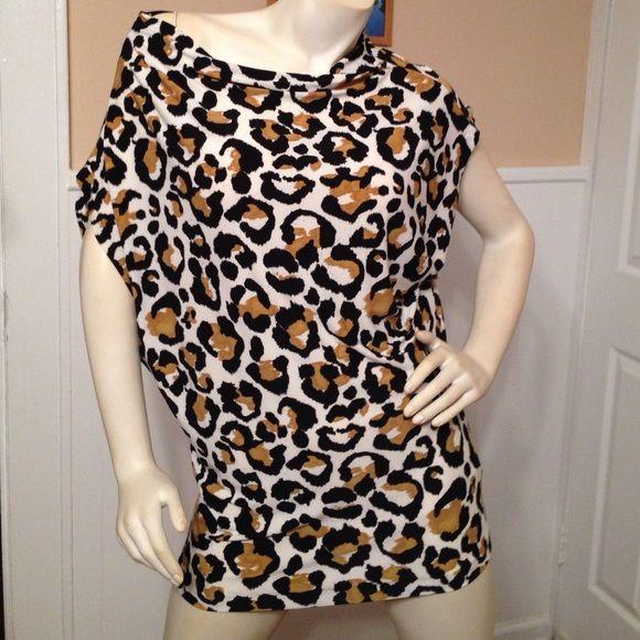 Cheetah print shirt Cute cheetah print shirt very comfortable and long Norma Kamali Tops