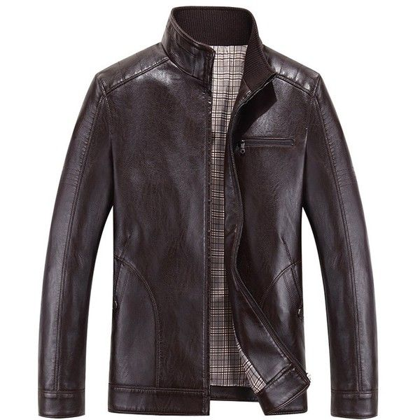 Amazon.com: QZUnique Men's Plus Big and Tall Casual Stand Collar Zip... ($47) ❤ liked on Polyvore featuring men's fashion, men's clothing, men's outerwear, men's jackets, mens big and tall outerwear, mens outerwear, mens jackets, mens big and tall jackets and mens zip up jacket