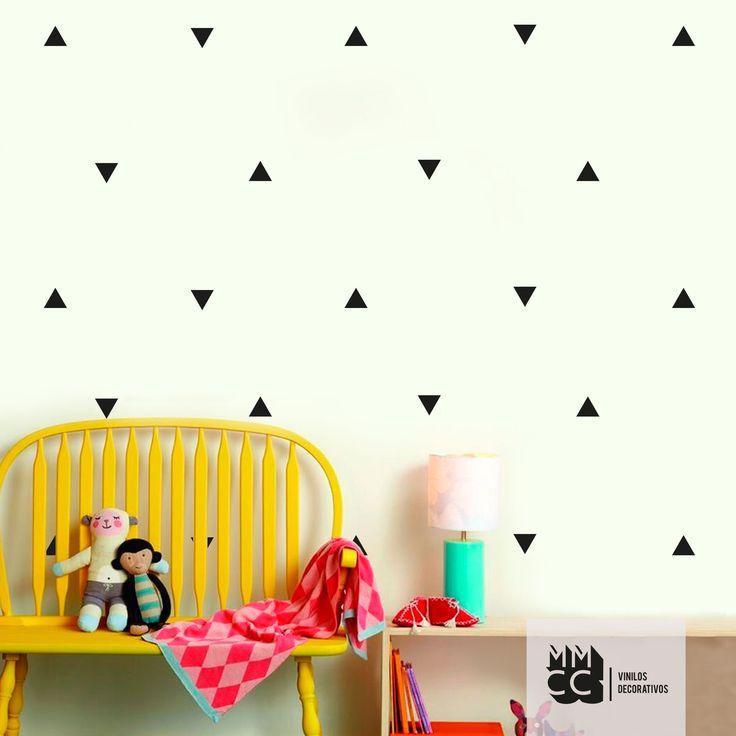#pack triangulos, vinilo decorativo #vinilos #vinyl #decoracion #diseño #wall #wallart #sticker #adhesivo #interiores #vinilo #triangle #triangulo #triangulos #piramides #flechas #ascenso #descenso #niños #trama #mmcc #chicos #niñas