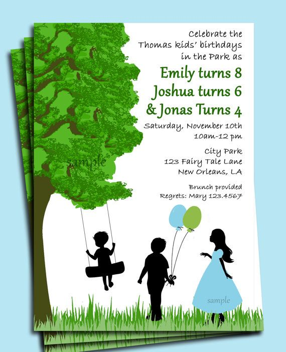 30 best park playground birthday party ideas images on pinterest park playground backyard birthday invitation by thatpartychick 1500 filmwisefo Gallery