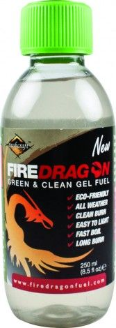 Made from UK sourced ethanol, FireDragon Gel Fuel can be used in multi-fuel outdoor cooking stoves, and barbecues, as well as indoor ethanol fireplaces. We formulated and developed the FireDragon gel to help people who venture in the great outdoors cook their rations and boil their brews quickly, safeguard their health, while protecting the environment. Our fuel is non-toxic, non-drip and made from 100% natural ingredients. It is easy to light and burns cleanly.