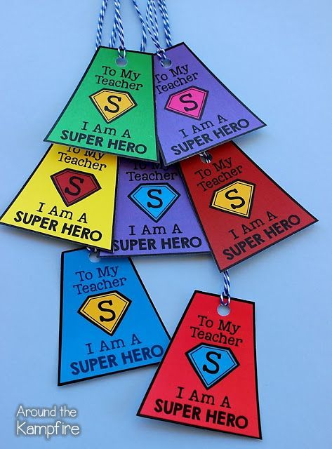 Cheers to My Class! Our Last Week In Second Grade! I gave my students these brag tags during our SUPERHERO send-off!