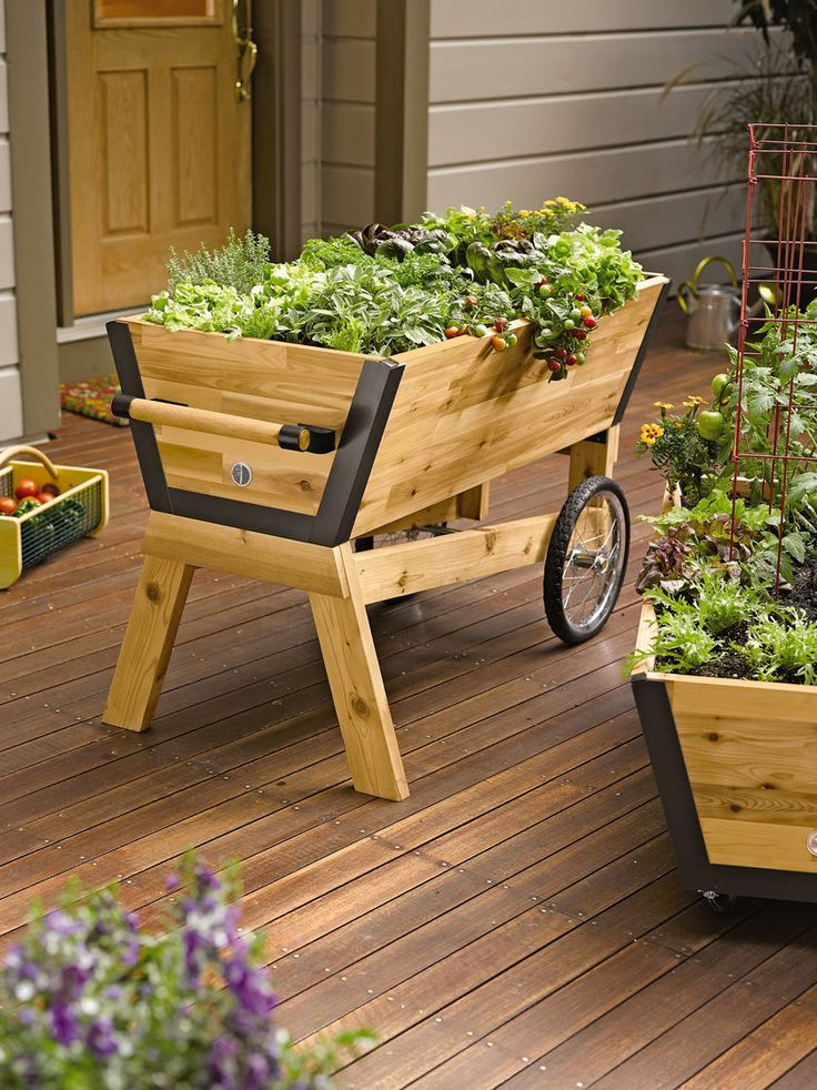 Superb Rolling Elevated Planter Box U Garden Raised Planter Gardeners