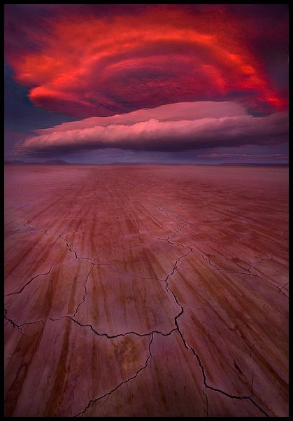 Dramatic sunset, Alvord desert, Oregon - US....Amazing...Colors & formation!