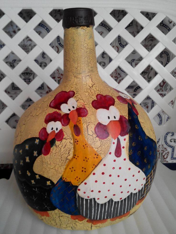 artesania y manualidades mariana,garrafa decorada con acrilicos
