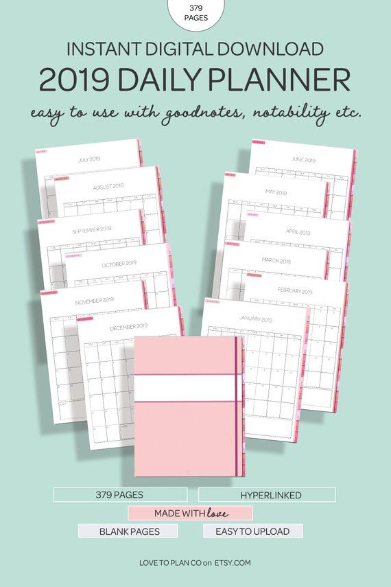 image regarding Digital Planners and Organizers titled Ipad Planner - Goodnotes Template - Electronic Planner