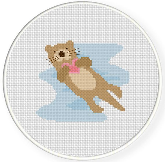 FREE for July 21st 2017 Only -  Otter Love Cross Stitch Pattern